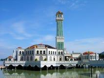 浮动的马来西亚清真寺槟榔岛 免版税库存图片