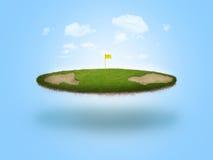 浮动的高尔夫球绿色 免版税图库摄影