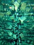 浮动立方体 库存照片