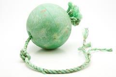 浮动绿色净拖网渔船 免版税图库摄影