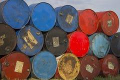 浮动议院的2老桶 库存照片