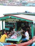 浮动餐馆 库存照片