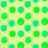浮动绿色种子圈子无缝的背景 免版税库存图片
