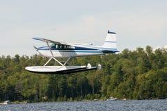 浮游物飞机或水上飞机 库存图片