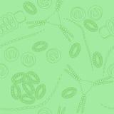 浮游生物无缝的样式 免版税图库摄影