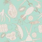 浮游生物无缝的样式 免版税库存图片