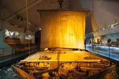 浮筒木筏木筏Kon-Tiki,奥斯陆 图库摄影