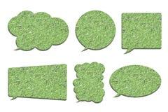 浮萍或在whi在泡影讲话形状隔绝的水莴苣 免版税库存图片