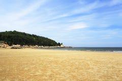 浯屿海岛沙子海滩 免版税库存照片