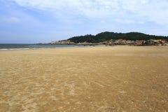 浯屿海岛海滩 免版税库存照片
