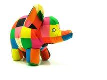 浴五颜六色的大象玩具 免版税图库摄影