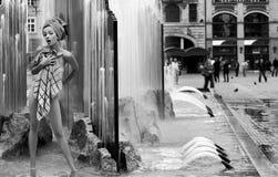 浴喷泉 免版税库存照片