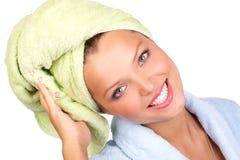 浴妇女 免版税库存照片