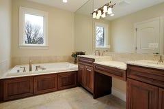 浴家庭豪华重要资料 免版税库存照片