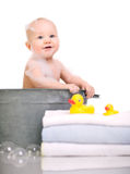 浴时间 免版税库存图片