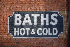 浴标志 库存照片