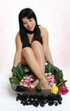 浴植物的英尺 免版税图库摄影