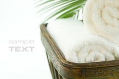 浴温泉毛巾 图库摄影