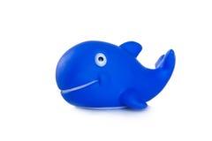 浴的,海豚橡胶玩具 免版税库存照片