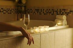 浴缸松弛场面 库存照片