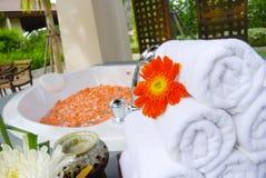 浴缸空间温泉泰国 免版税图库摄影