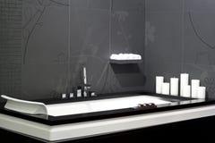 浴缸黑色 库存图片