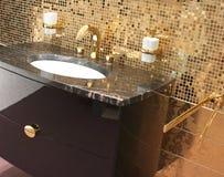 浴装饰内部 库存图片