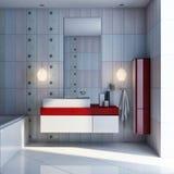 浴设计内部wc 库存照片
