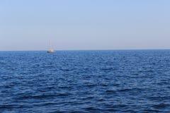 海†‹â€ ‹和小船 免版税库存图片
