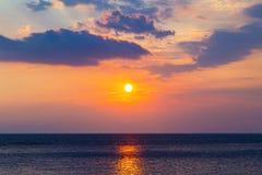 海†‹â€ ‹天空日落日出 免版税库存图片