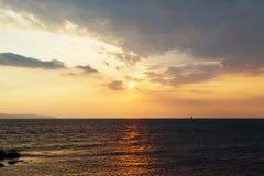 海†‹â€ ‹天空日落 免版税库存图片