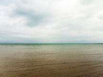 海†‹â€ ‹阴云密布 库存照片