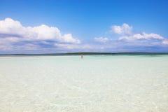 海、太阳和沙子 库存照片