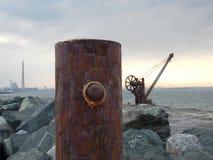 海、盐、钢、铁锈&秀丽 图库摄影