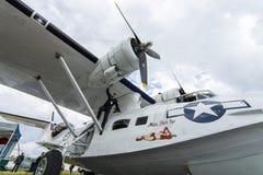 海上巡逻和搜救水上飞机巩固了PBY卡塔利娜(PBY-5A) 库存照片