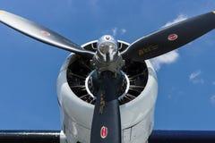 海上巡逻和搜救水上飞机星形发动机巩固了PBY卡塔利娜( PBY-5A) 免版税库存照片