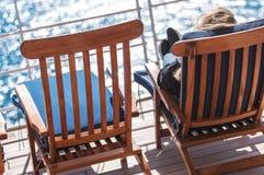 海上旅行假期放松 免版税库存照片