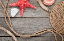 海上旅行框架装饰 免版税库存照片