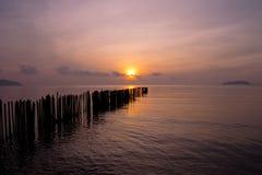 海上普吉岛泰国的早晨 免版税库存图片