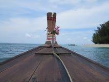 海上浇灌在从小船的泰国 库存照片