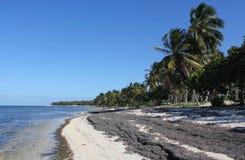 海上的中午12点在多米尼加共和国 免版税库存图片