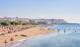 海上的假期 Lindos 希腊 免版税库存照片
