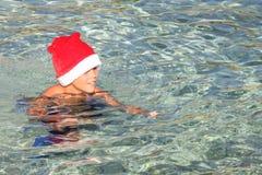 海上的圣诞节假期 免版税图库摄影