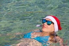海上的圣诞节假期 免版税库存照片