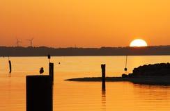 海上的日落 免版税图库摄影
