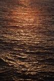 海上的日落 免版税库存照片