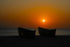 海上的日落 库存图片