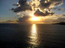 海上的日落!! 库存图片