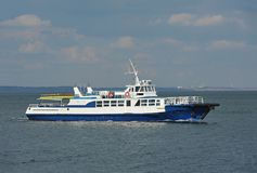 海上的汽艇 免版税库存图片
