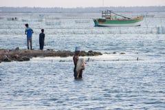 海上的渔夫 图库摄影